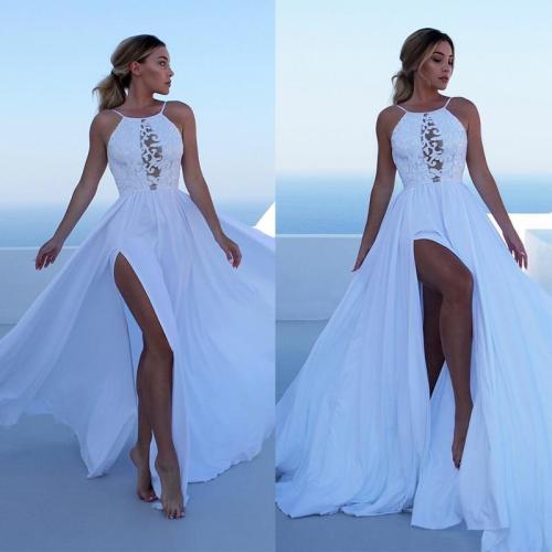 liva girl Women Off Shoulder Boho Floral Print Dress Women Sexy Backless Summer Beach Halter Maxi Long Dresses Vestidos