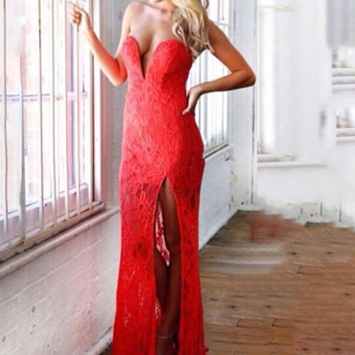 Fashion Sexy Lace Evening Dress