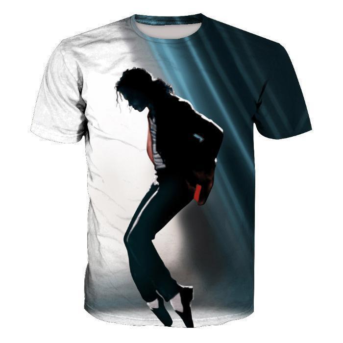 Michael Jackson Printed Short Sleeve Men's T-Shirt