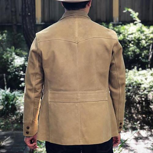 Vintage Long Sleeve Pure Colour Jacket