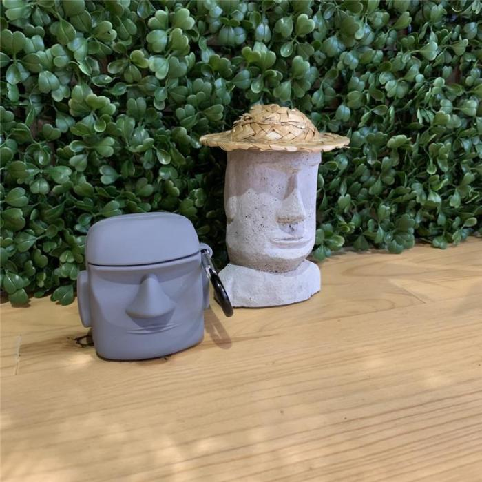 Stone Statue AirPods Pro Case Silicone Shockproof Cover