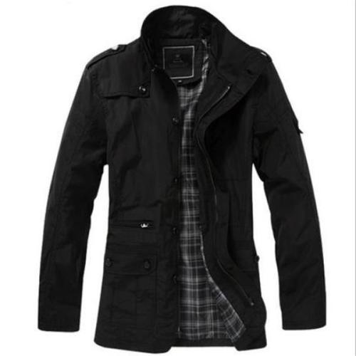 Fashion Casual Thermal Slim Plain Button Long Sleeve Men Outerwear