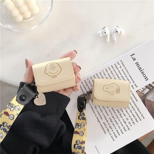 Snoopy PU Leather AirPods Pro Case Shock Proof Cover