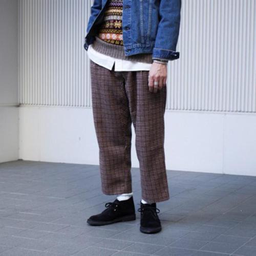 Men's Casual Loose Striped Straight Leg Pants YT009