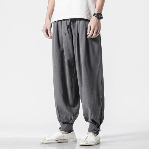 Vintage Casual Pure Colour Cotton Linen Lantern Pants