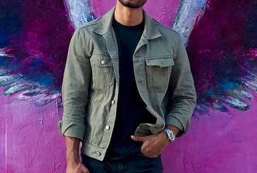 Fashion Youth Slim Plain Button Long Sleeve Men Denim Jacket Outerwear