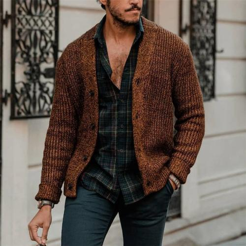Fashion Men's Knit Cardigan