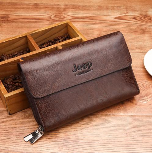 Men's Business   Long Zip Wallet Clutch