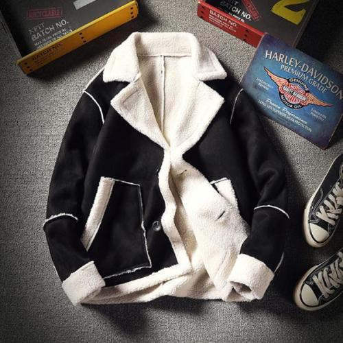Men's Trend Plus Velvet Lapel Warm Coat
