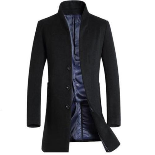 Man Long Trench Coat Wool Coat