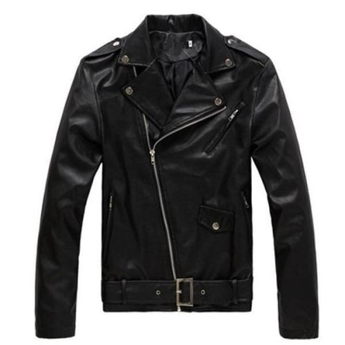 Locomotive Slim Leather Men's British Fashion Men's Leather Jacket