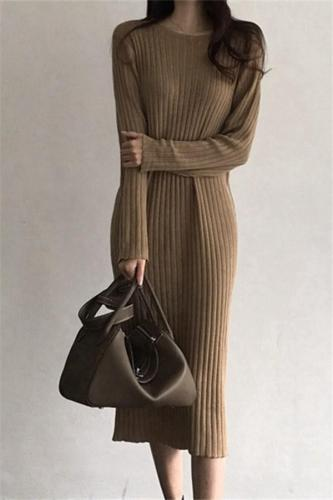 Casual loose Knitted Maxi dress Evening Dress