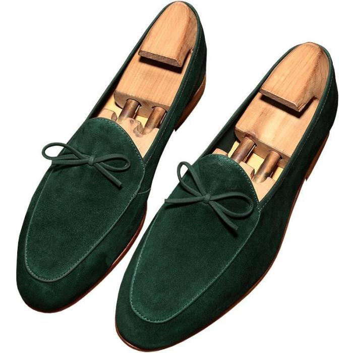Handmade Suede Leather Big Size Loafers