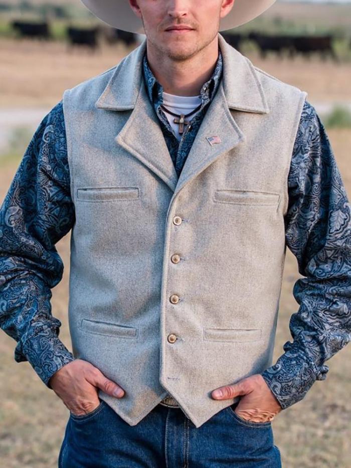 Vintage Pure Color Single Breasted Vest