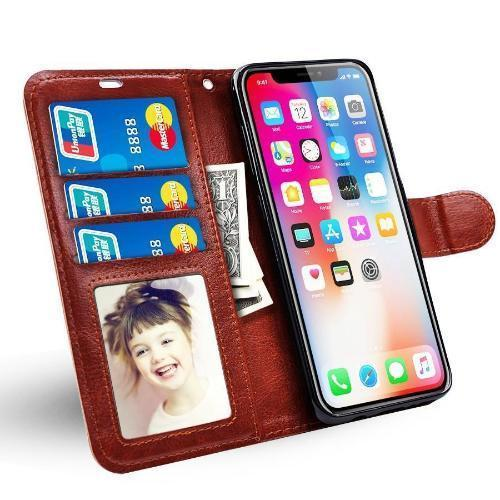 Wallet Silicon Card Flip Case For iPhone 8 8Plus