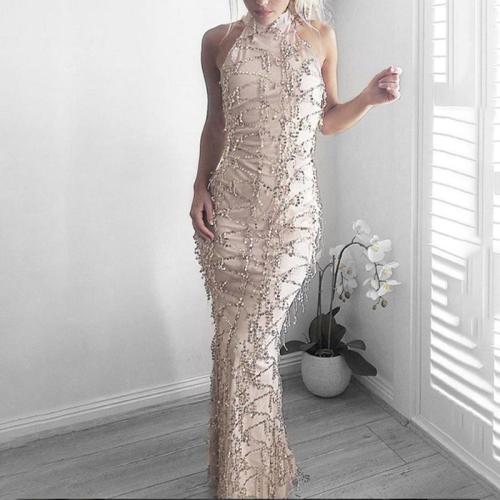Sexy Dress Tassel Sequin Evening Dress