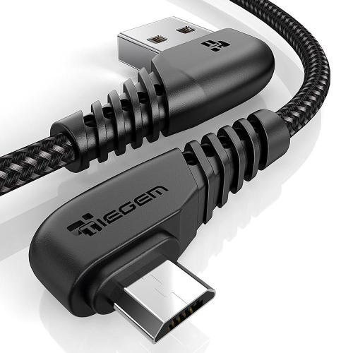90 Degree Micro USB Cable Braided Fast Charger Data Cable For Samsung Huawei