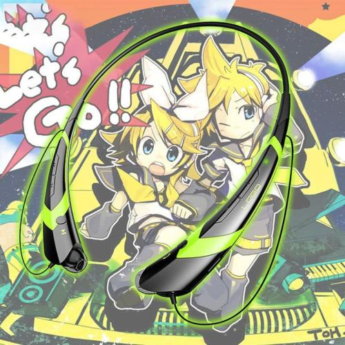 Anime Kagamine Rin/Len Neckband Wireless Stereo Bluetooth Earphones