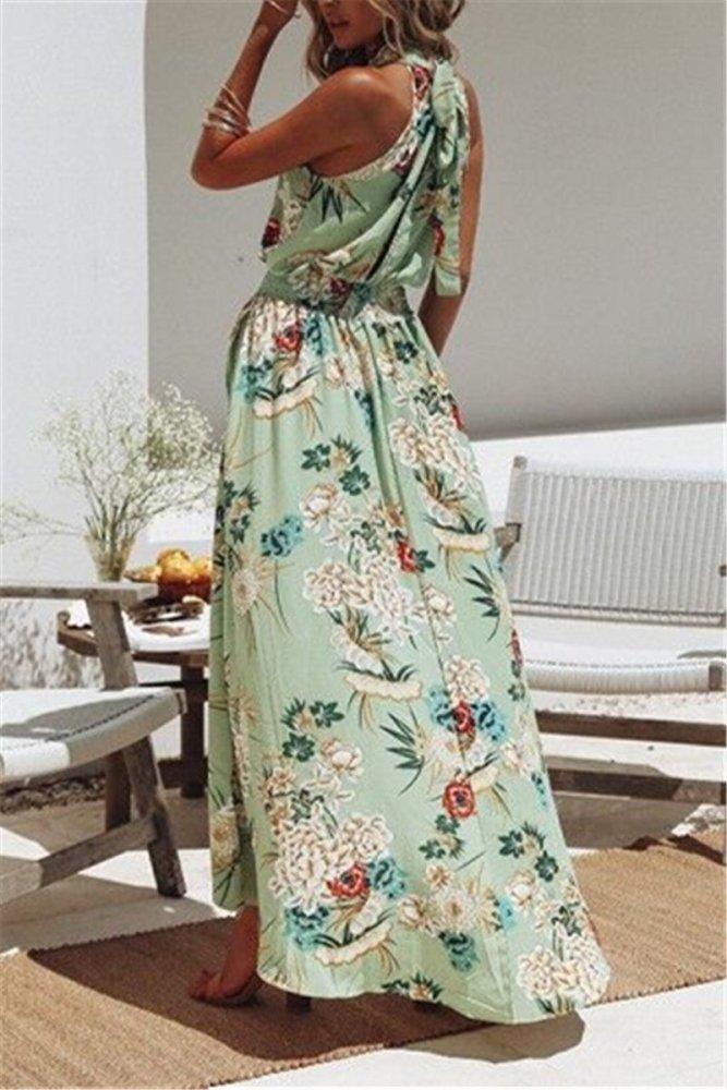 Boho Floral Beach Party Casual Maxi Dress