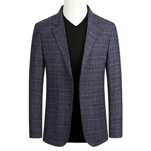 KUYOMENS Spring New Arrival Mens Casual Gray Suit Youth Slim Fit Business Fashion Plaid Men Blazer Male Suits Jacket M-4XL