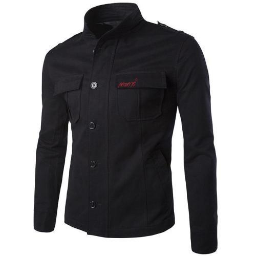 Fashion Lapel Collar Cotton Embroidery Plain Jacket