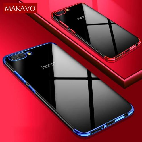 Luxury Soft Silicone Transparent Plating Cover For Huawei Honor 10 P20 Lite Pro