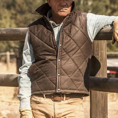 Vintage Pure Color Band Collar Vest