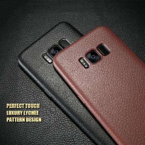 Ultra Thin Leather Skin Case For Samsung S8 S9 Plus S8 S9
