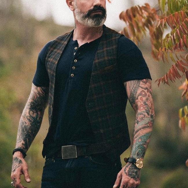 British Style Contrast Color Plaid Vest