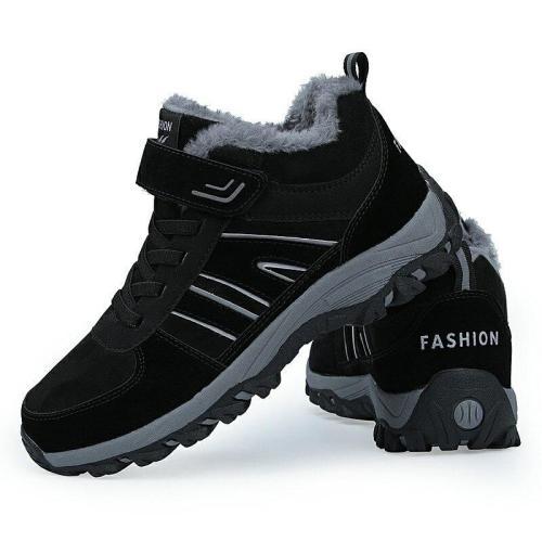Men Winter Boots 2019 Warm Fur Men Women's Boot Shoes Plush Snow Boots Retro Unisex Size ankle boots For Men Women Winter Shoes