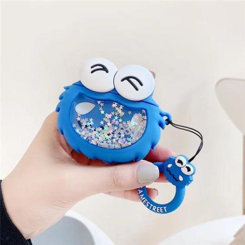 Sesame Street Liquid Sequins 3D Silicone AirPod Case Cover with Ring