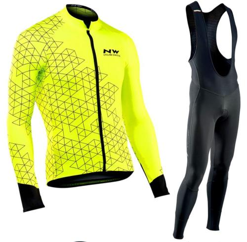2019 Long Sleeve Cycling Clothing Set NW Pro team Jersey men suit Breathable outdoor sportful bike MTB clothing paded