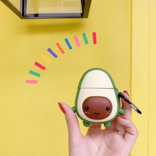 Cute 3D Cartoon Fruits Avocado Silicone Airpod Case Cover