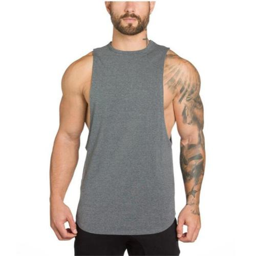 Men's Blank Cotton Loose Stretch   Vest
