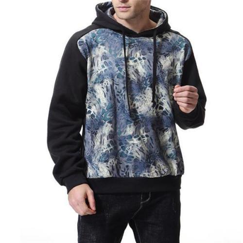 Fashion Youth Casual Loose Print Long Sleeve Men Sport Hoodie
