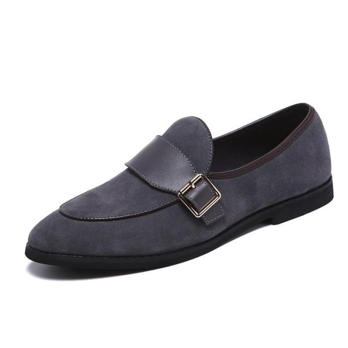 Suede Loafers Man Breathable Shoes