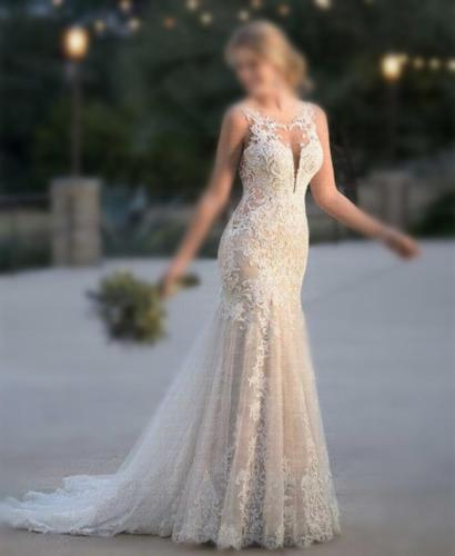Embroidery Vestido De Noiva 2020 Summer Mermaid Wedding Dress Lace Appliques Bridal Gowns Lace Wedding Gowns robe de mariee