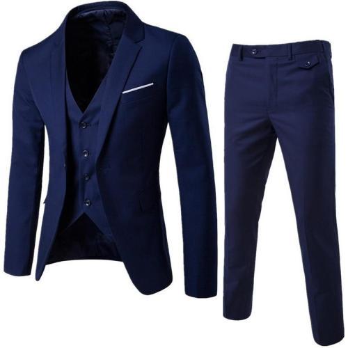 Men Spring 3 Pieces Classic Blazers Suit Sets Men Business Blazer +Vest +Pants Suits Sets Autumn Men Wedding Party Set