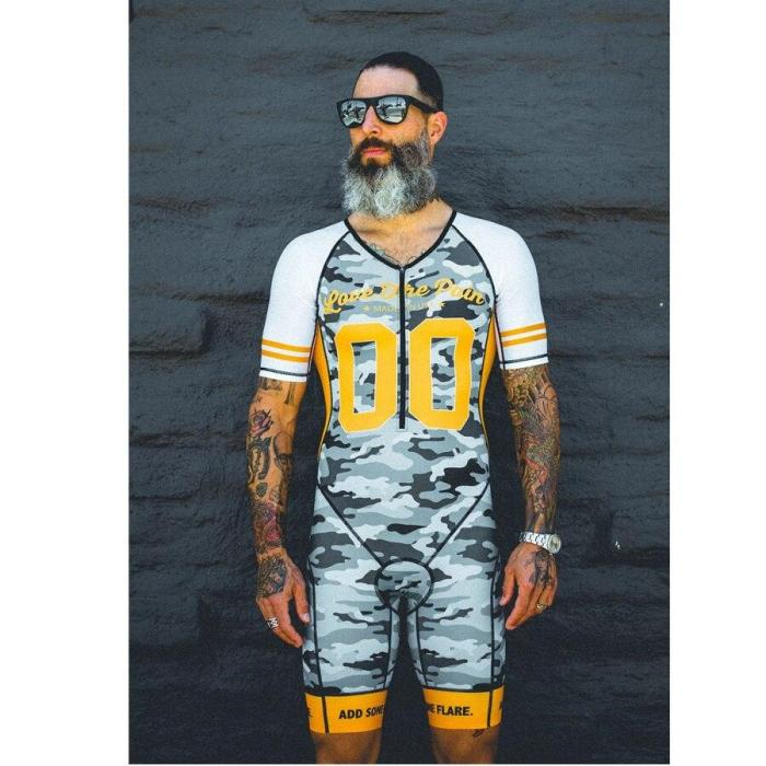 LOVE THE PAIN 2020 new summer skinsuit men triathlon mtb cycling short sleeve roupa ciclismo maillot bike sports running suit