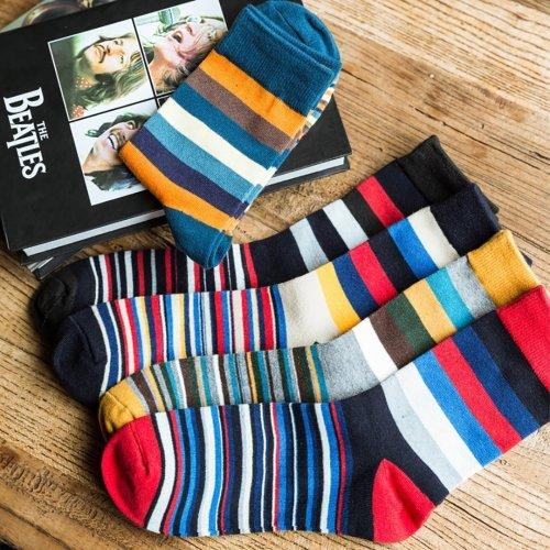 Color Striped Men's Socks