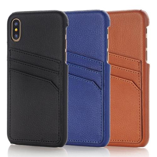 Retro Card Slot Leather Case For iPhone X Xs Max XR