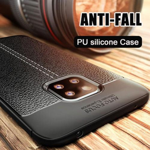 Luxury Litchi Leather Soft Phone Case For Huawei