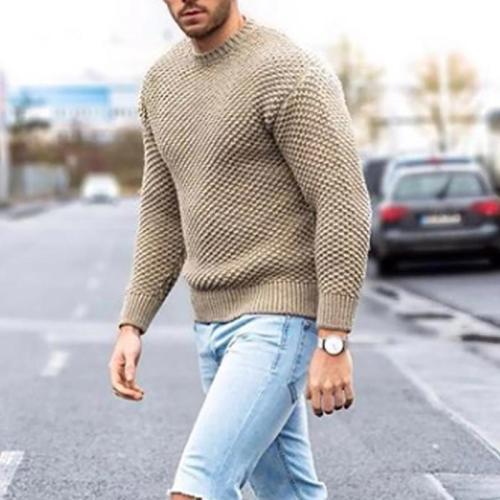 Casual men's solid color sweater