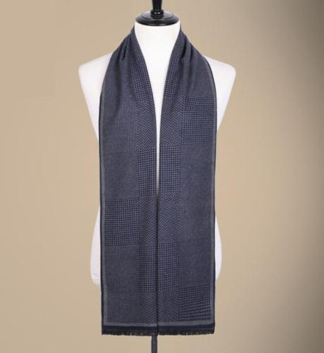 Autumn and winter silk brushed long plaid stripes warm men's scarf