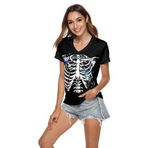 Halloween 3d Print Short Sleeve T-shirt