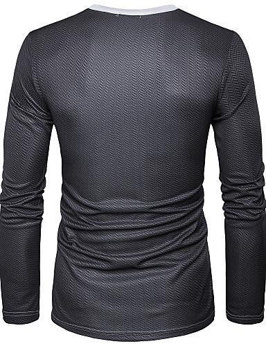 Men 3D Print Round Neck Sports Street Chic T Shirt