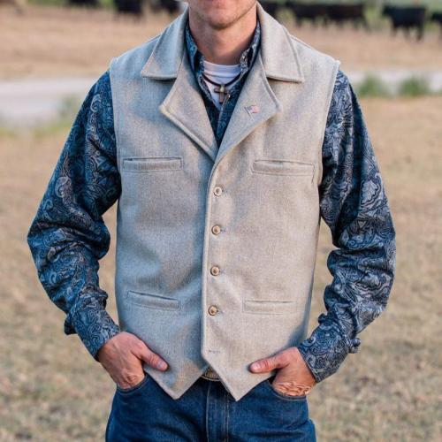 Casual wild classic knit male vest