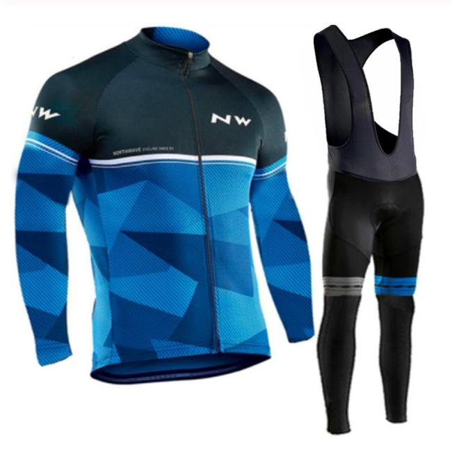 2019 Northwave Long Sleeve Cycling Clothing Set NW Pro team Jersey men suit Breathable outdoor sportful bike MTB clothing paded
