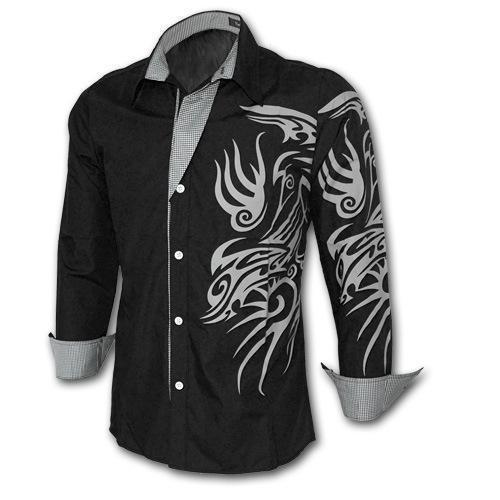 Men's Chinese Style Dragon Long Sleeve Shirts