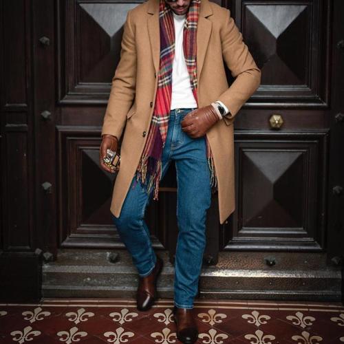 Fashion Single-Breasted Lapel Mid-Length Coat